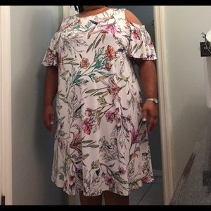 Wild flower peekaboo short sleeve dress